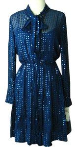 DKNY Sequin Silk Dress