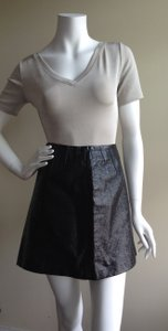 Iceberg Mini Skirt Metallic black