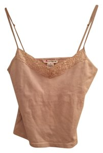 Other Crop Bra Sequin Top Tan