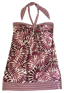 BCBGMAXAZRIA short dress Watercolor Print Raspberry Stretchy Center Tie Halter Halter on Tradesy