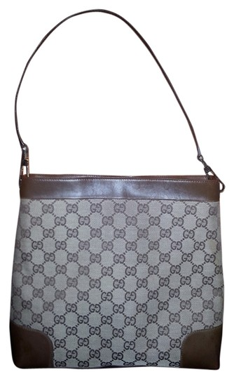 Preload https://item1.tradesy.com/images/gucci-brown-canvas-leather-shoulder-bag-4649860-0-1.jpg?width=440&height=440