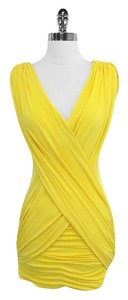 BCBGMAXAZRIA short dress Draped Sleeveless on Tradesy