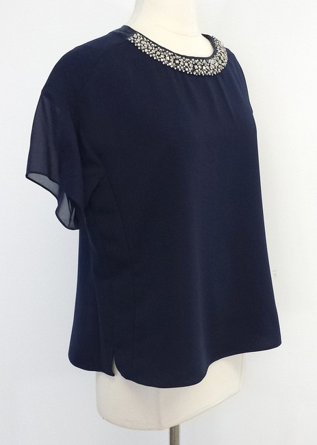 Rebecca Taylor Silk Blend Beaded Top