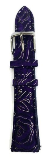 Michele Authentic MICHELE 20mm Purple Swirl Leather Watch Band