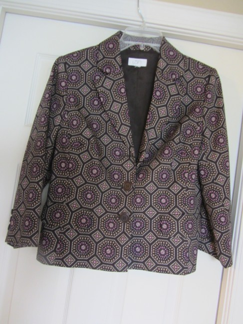Ann Taylor LOFT REDUCED! Beautiful High Quality Well Tailored casual but structured jacket with fantastic modern geometric print! A go to staple.