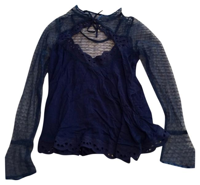 Free People Lace Lace Lace Shirt Lace Sheer Sheer Sheer Tunic