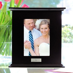 Cathy's Concepts Personalized Monogram Photo Card Box Black