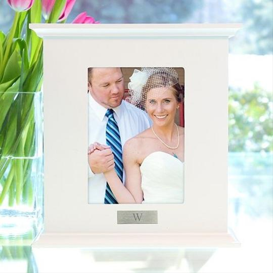 Cathy's Concepts Personalized Monogram Photo Card Box White