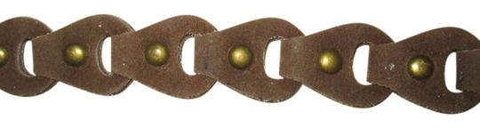 Other Brown suede leather tie studded belt
