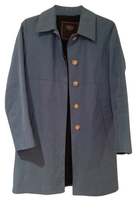 Preload https://item4.tradesy.com/images/coach-blue-trench-coat-size-0-xs-4654933-0-0.jpg?width=400&height=650
