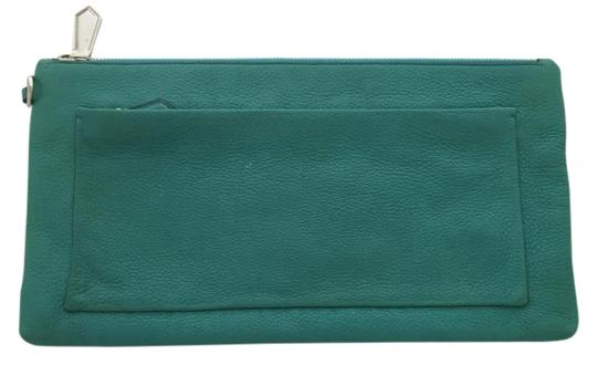 Reed Krakoff Leather Wallet Envelope Blue Clutch