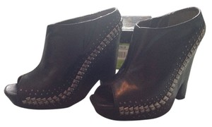 Sam Edelman Studded Leather Wedge Black with silver studs Wedges