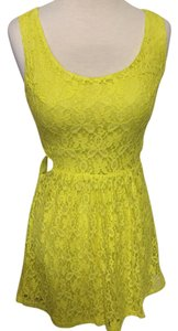 Ecko short dress Neon yellow Cutout Skater Neon Lace Spring on Tradesy