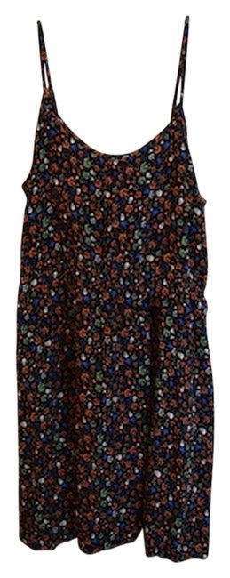 Divided by H&M short dress Black Strappy Badass Skull Rose Pattern Skull And Rose Multi Multi-color Hm Hm Adjustable Spaghetti Strap Adjustable on Tradesy