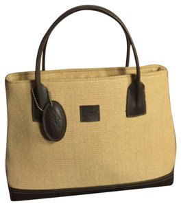 Stone Mountain Accessories Satchel in Tan/Dark Brown