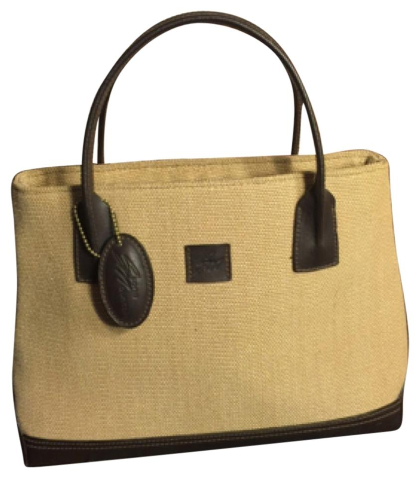 Stone Mountain Accessories Tan Dark Brown Leather Canvas Satchel 60% off  retail 27ceb3b7d03a3