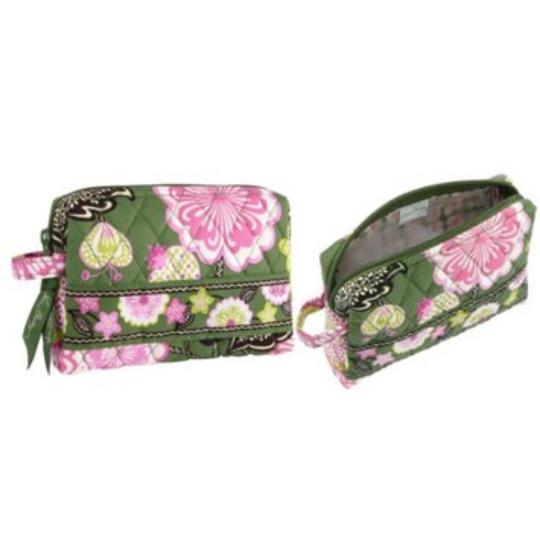 Vera Bradley Travel Set Travel Set Travel Set Duffel Small Small Duffel Luggage Cosmetic Case Cosmetic Case Cosmetic Small And Olivia Pink Travel Bag
