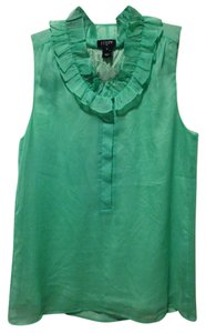 J.Crew Sleeveless Office Workwear Top Green