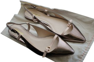 Coach Leather Rose Gold Flats