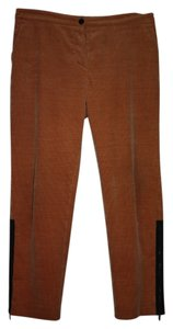Chanel Vintage Exclusive Straight Pants Ochre Corderoy with Black Zipper Detail