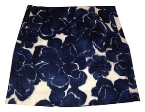 J.Crew Mini Skirt Blue and white print