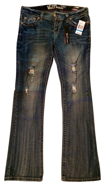 Preload https://item4.tradesy.com/images/wallflower-ashley-washed-distressed-legendary-boot-cut-jeans-size-31-6-m-4656538-0-0.jpg?width=400&height=650