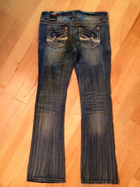 WallFlower Boot Cut Jeans-Distressed