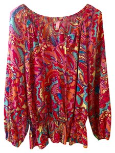 Lilly Pulitzer Top Multi Feelin Groovy