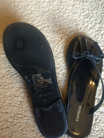 Express Bow Jelly black Sandals