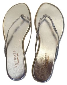 Talbots Sequin silver Sandals
