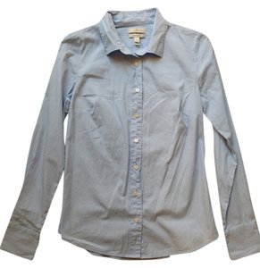 J.Crew Workwear Office Professional Button Down Shirt Blue