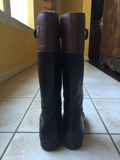 Hunter Rainboot Rain Modern Leather Buckle Black Boots