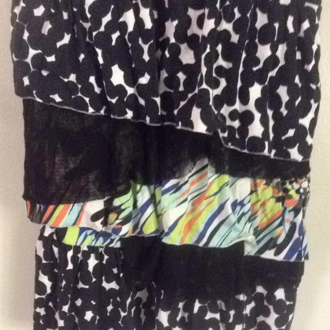 Anthropologie Top Black White Multi
