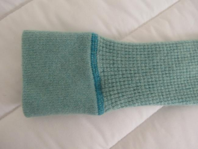 Frost Cashmere Cashmere Turquoise Knit Waffle-knit Warm Winter Fall Sweater