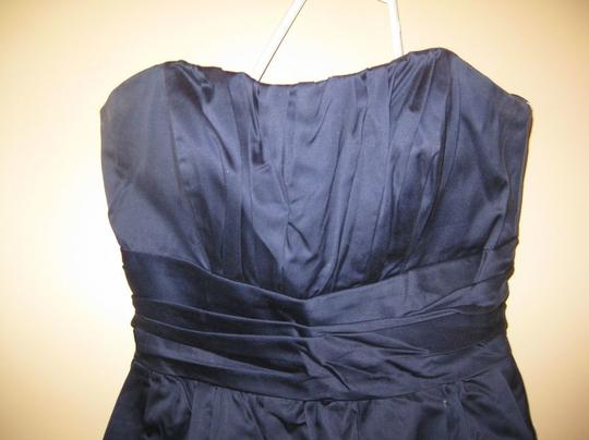 David's Bridal Blue Cotton Feminine Bridesmaid/Mob Dress Size 4 (S)