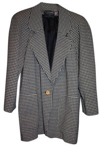 Chanel Vintage Classic Exclusive Black & White Wool Herringbone Blazer