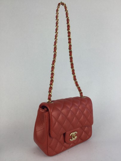 Chanel Quilted Caviar Mini Single Flap Shoulder Bag