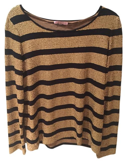 Preload https://item3.tradesy.com/images/calypso-gold-with-navy-stripes-t-shirt-4658392-0-0.jpg?width=400&height=650