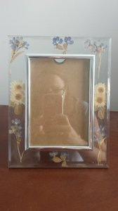 Pressed Flowers Glass Picture Frame