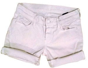 7 For All Mankind Denim Mini Jeans Size 24 Low Rise P1542 Cut Off Shorts white