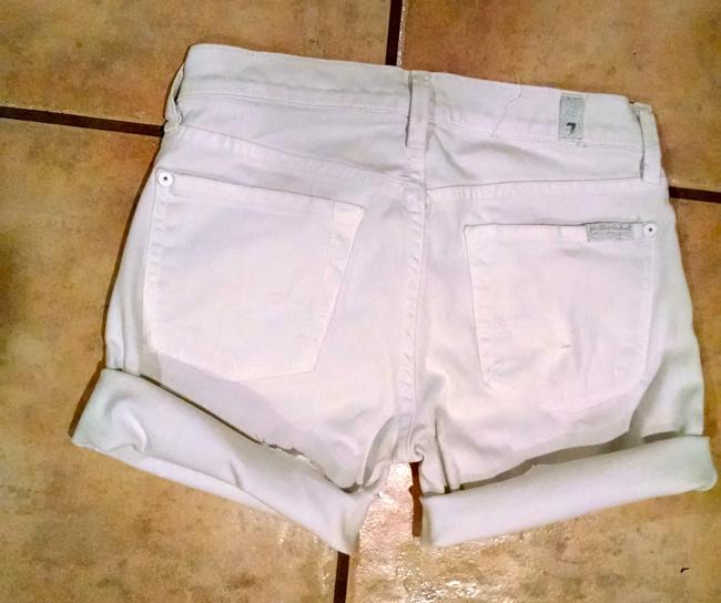 7 For All Mankind Jeans Size 24 P1542 Cut Off Shorts white