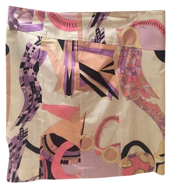 Emilio Pucci Skirt White with Pucci print