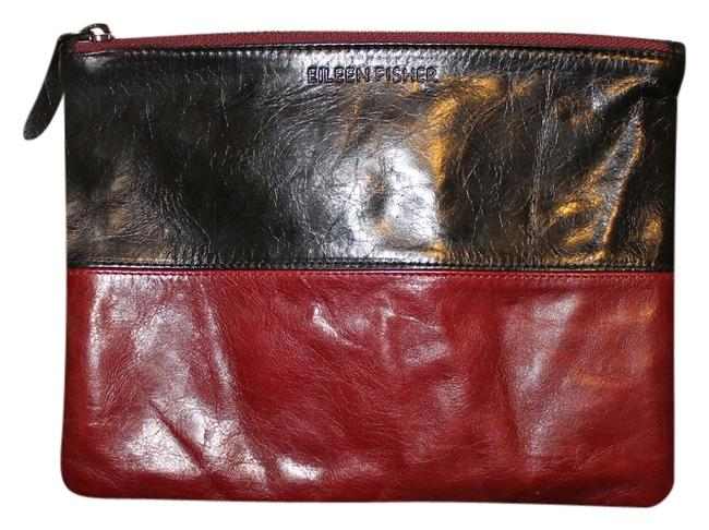 Item - Red/Black Leather Clutch