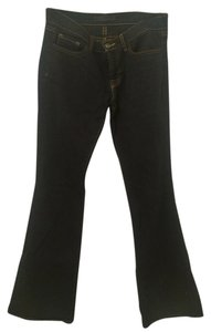 J Brand Wide Denim Dark Denim Flare Leg Jeans-Dark Rinse