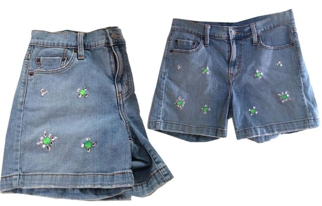 Levi's Blue Recycled/ Hand-applied Neon Crystals Jeweled Denim Shorts Size 10 (M, 31) Levi's Blue Recycled/ Hand-applied Neon Crystals Jeweled Denim Shorts Size 10 (M, 31) Image 1