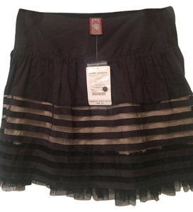 Free People Mini Mini Skirt Black