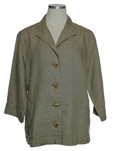 Eileen Fisher 100% Linen Beige Jacket