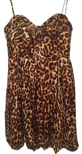 A.B.S. by Allen Schwartz Animal Cheetah Leopard Party Dress