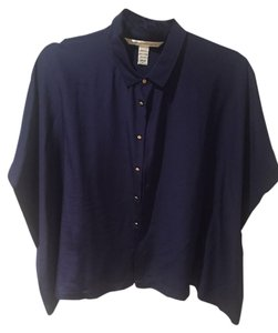 Diane von Furstenberg Button Down Shirt Navy