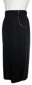 St. John Santana Knit Skirt black